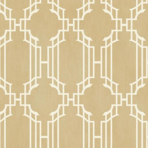 Lattice Sidewall Wallpaper Champagne/White Double Roll