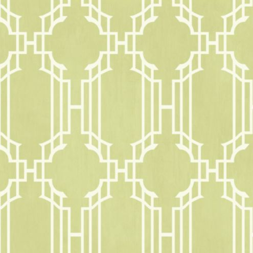 Lattice Sidewall Wallpaper Mint Green/White Double Roll