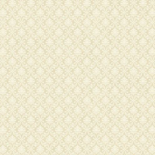 Mini Damask Wallpaper Sand Beige/Cream Double Roll