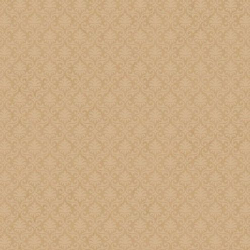 Mini Damask Wallpaper Taupe/Gold Double Roll