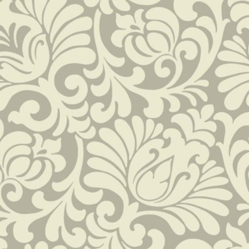 Oversized Tulip Damask Wallpaper Double Roll
