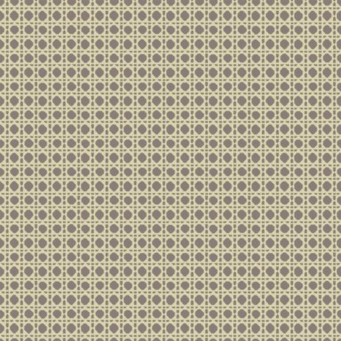 Cane Trellis Wallpaper Platinum/Cream Double Roll