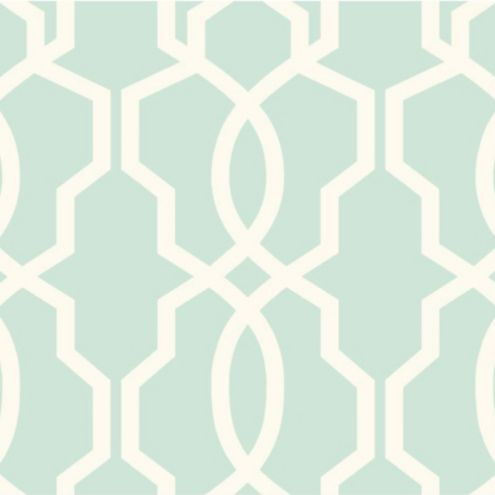 Imperial Trellis Wallpaper Aqua/White Double Roll
