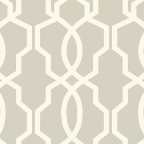 Imperial Trellis Wallpaper Gray/White Double Roll