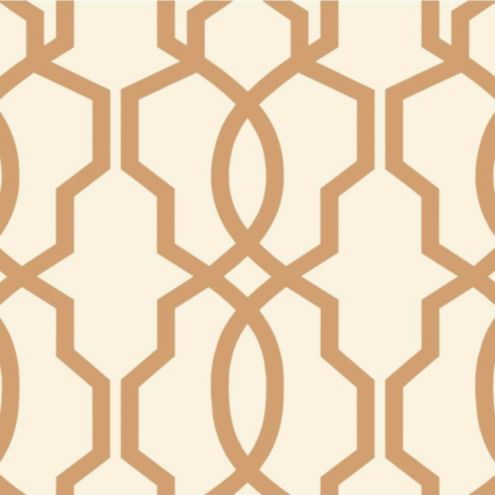 Imperial Trellis Wallpaper Tan/Cream Double Roll