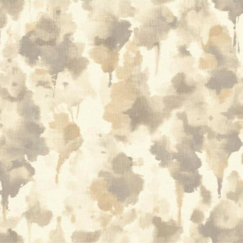 Nature's Illusion Wallpaper White/Taupe/Gold Double Roll