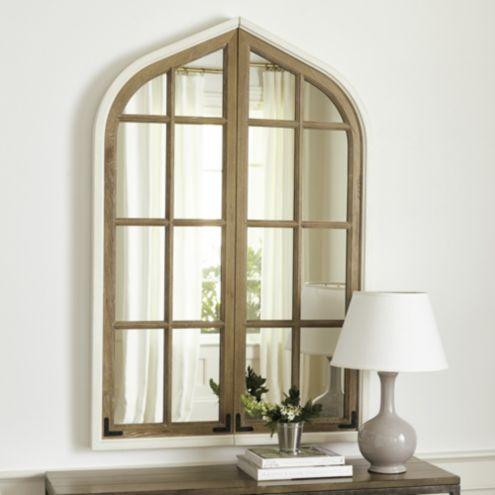 Amiel Arch Aged Brown Antiqued Mirror Ballard Designs