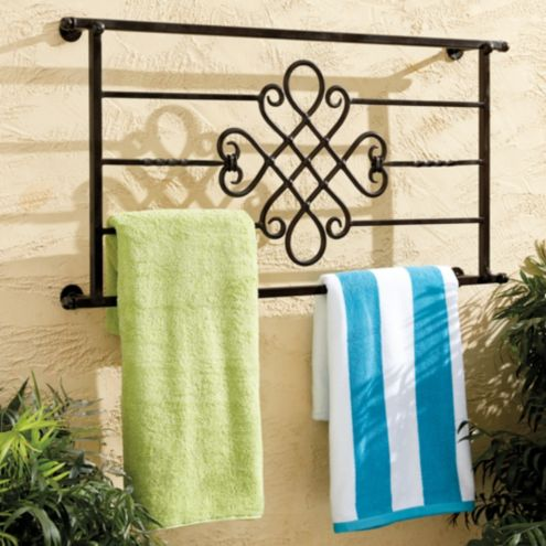 Outdoor Decorative Towel Rack