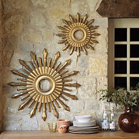 salina indooroutdoor sunburst plaque - Sunburst Wall Decor
