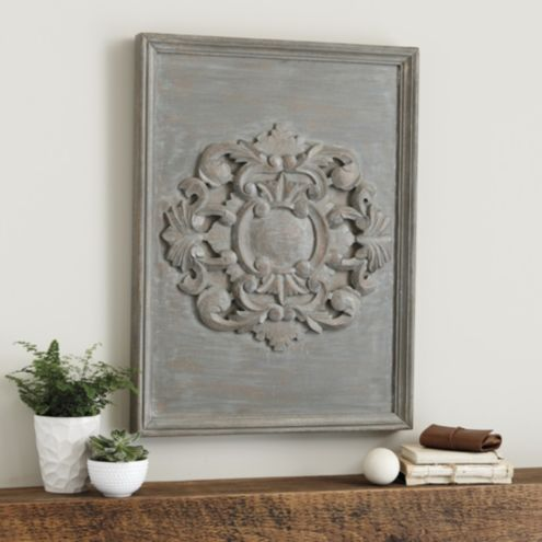 Carved Rosette Plaque
