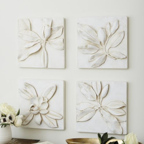 Magnolia Plaques - Set of 4