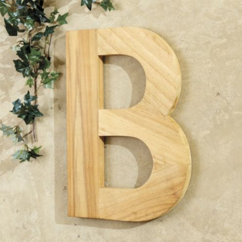 Teak Indoor/Outdoor Letter Plaque