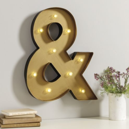 Marquee Sign Ampersand