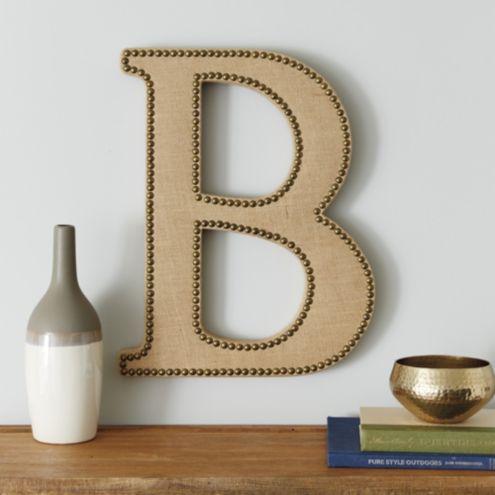 Burlap Letters