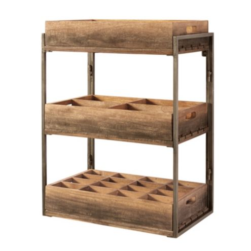 Caddy Shelf with 3 Trays