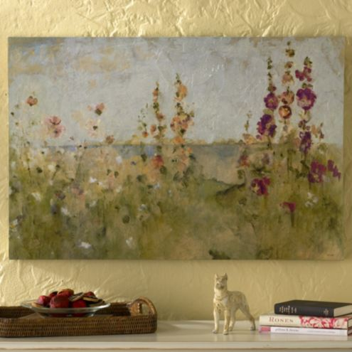 Flowers by the Sea Print