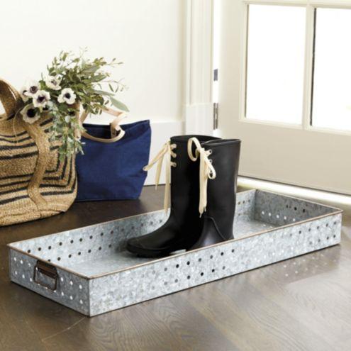 Excellent Galvanized Boot Tray | Ballard Designs VC47