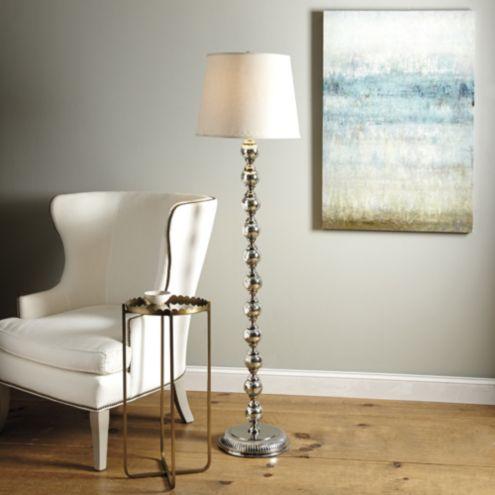 - Mercury Glass Stacked Ball Floor Lamp Ballard Designs