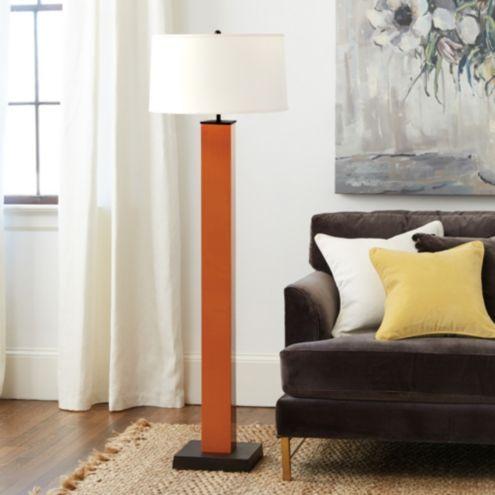 Grant square column floor lamp ballard designs