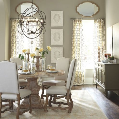coretta dining room furniture collection ballard designs - Orb Chandelier Dining Room