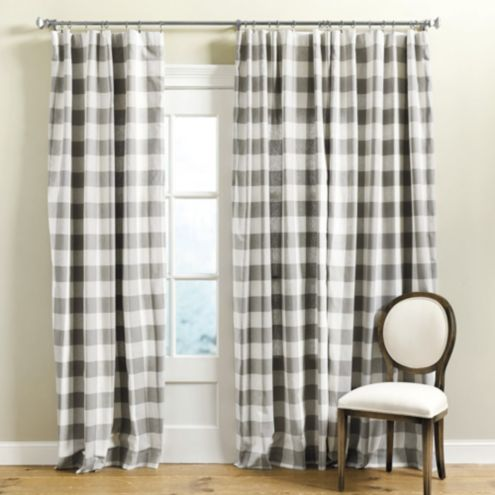 curtains check buffalo drapes plaid black explore foter and white