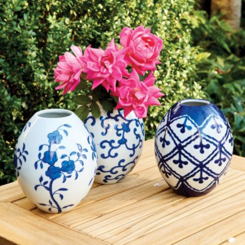 Petite Chinoiserie Vases - Set of 3