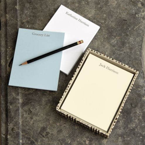 Classic Personalized Notepads, Small - Set of 4