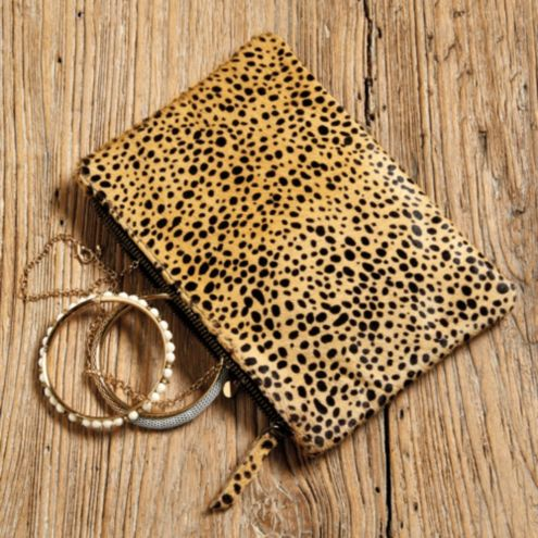Cheetah Zippered Pouch