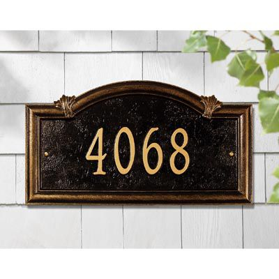Somerset Arch One Line Wall Address Sign