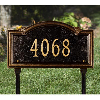 Somerset Arch One Line Lawn Address Sign