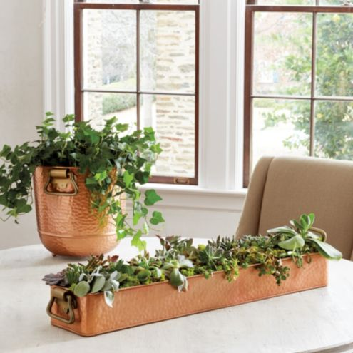 Hammered Copper Planter Collection