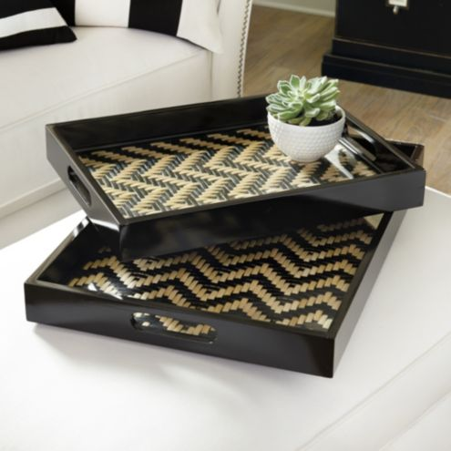 Bunny Williams Herringbone Trays