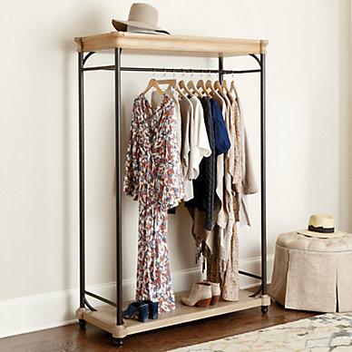 Closet Racks u0026 Small Storage & Closet   Master Closet Design u0026 Organization   Ballard Designs