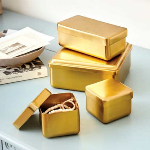 Nesting Brass Boxes