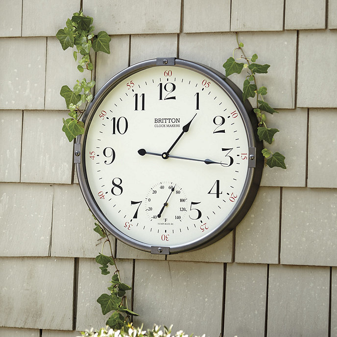 Britton Indoor/Outdoor Clock | Ballard Designs