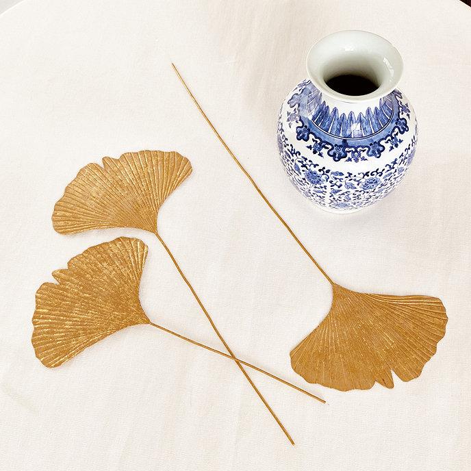 gilded ginkgo leaves set of 3 ballard designs