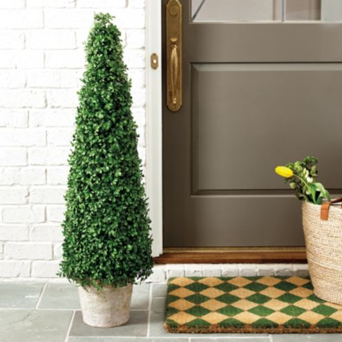 Faux Boxwood Topiary Tree