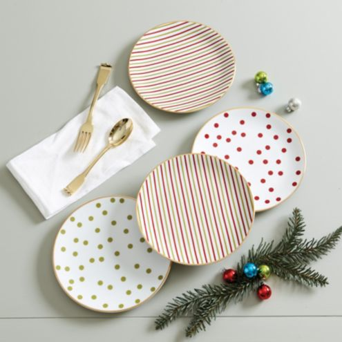 Jolly Accent Plates - Set of 4