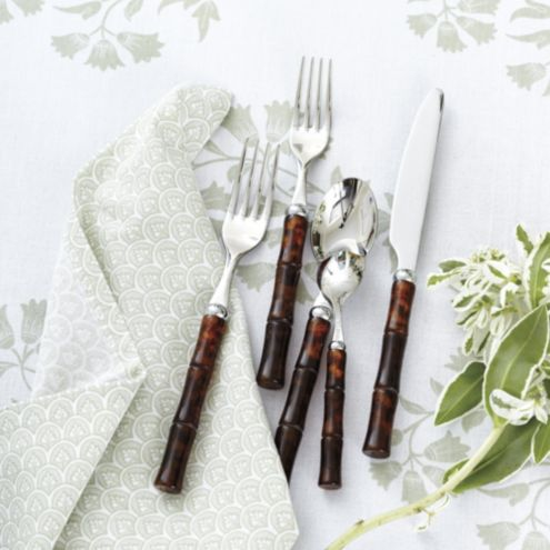 Bunny Williams Bamboo Tortoise Flatware 5-Piece Set