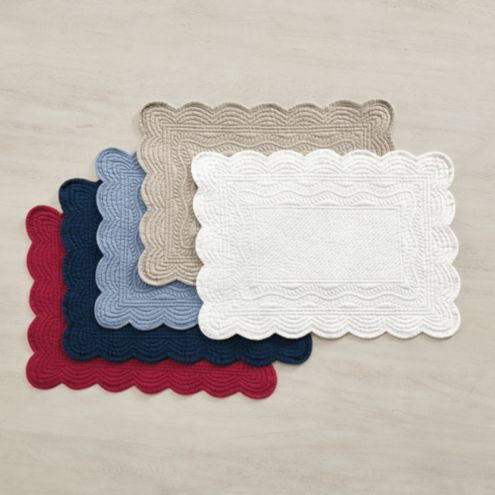 Marseille Rectangular Quilted Placemats - Set of 4