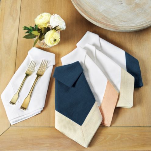 Bunny Williams Banded Dinner Napkins - Set of