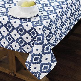 Perdido Watercolor Indigo Tablecloth