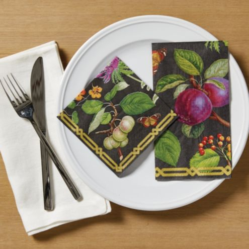 Midnight Garden Buffet Napkin - Set of 15