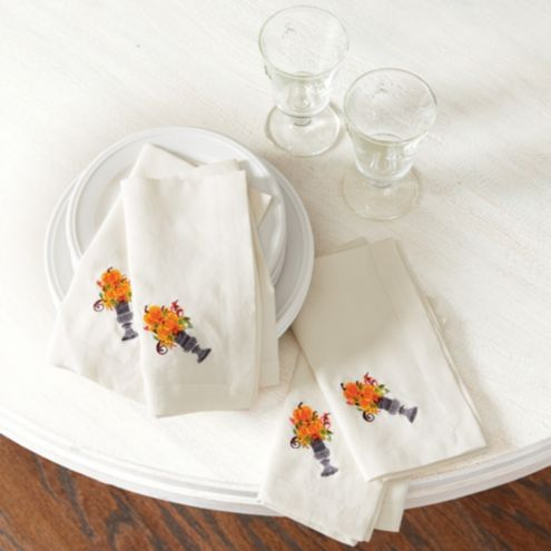 Autumn Pumpkin Napkins - Set of 4