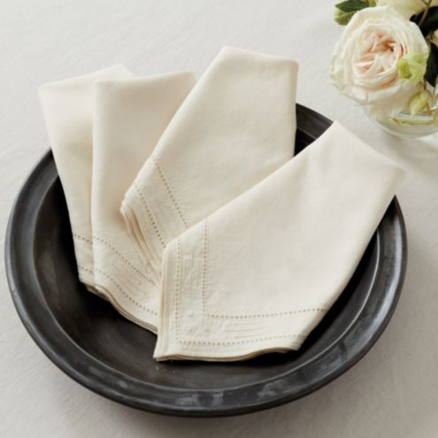 Fina Embroidered Napkins - Set of 4