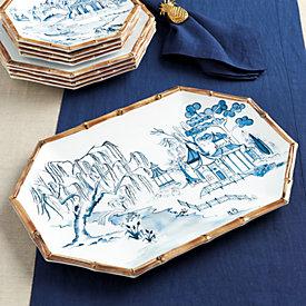 Bamboo Melamine Platter & Bamboo Melamine Dinnerware   Ballard Designs