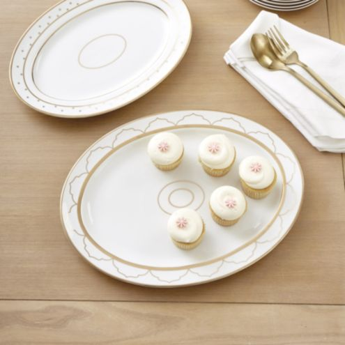 Bunny Williams Gold Star Serving Platters