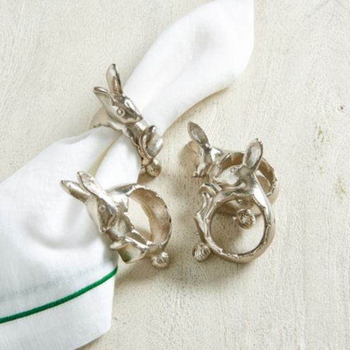 Lilly Bunny Napkin Rings - Set of 4