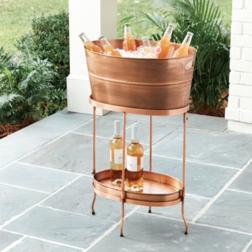 accessories ady modern kick with copper beverage stand home tub