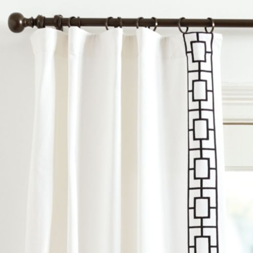 Embroidered Square Trellis Panels - Set of 2